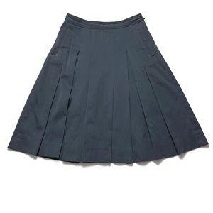 A.P.C. Box Pleat Cotton A Line Skirt